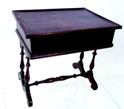 Wooden working table with wooden top Format...