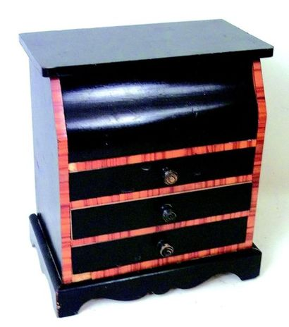 -Mahogany chest of drawers with marble top...