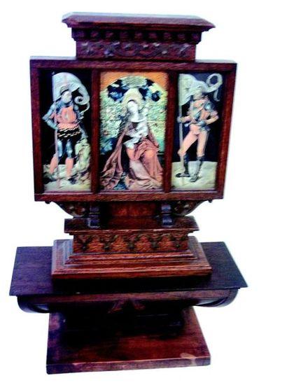 -Small miniature travel altar W 23 cm H 10...