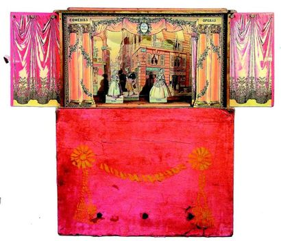 -«THEATRE en MINIATURE» rare théâtre de table...