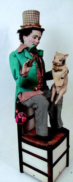-«Le paysan et son cochon» automate à musique de la maison Gustave VICHY, Réalisé...