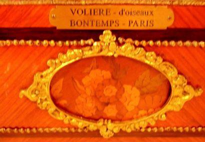 """""""La Volière à oiseaux"""" Songbird automaton from Blaise BONTEMS. In precious wood,bronzes..."""