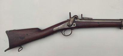 """CARABINE des Chasseurs d'Orléans modèle 1842, canon daté """"1844"""", garnitures en fer,..."""