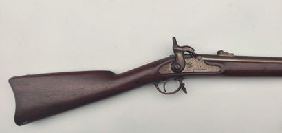 """Springfield infantry rifle model 1863, lock dated """"1864"""" and stamped """"US Springfield"""",..."""