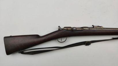 """Fusil d'infanterie Chassepot modèle 1866, canon marqué """"S 1868"""", garnitures en fer..."""