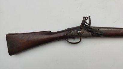 Mousqueton de cavalerie étranger à silex Assez bon état, vers 1780/1800 (remontage...