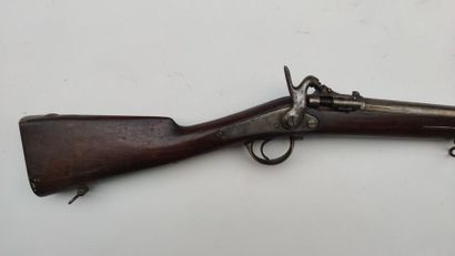 Infantry rifle with snuffbox model 1867 modified for hunting (barrel and was shortened,...