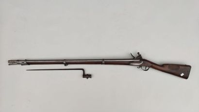 Flintlock infantry rifle type An IX, used in the National Guard. Round barrel with...