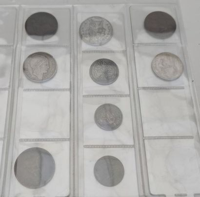 Antique coin album: various countries, tokens and medals