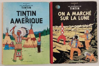 HERGE Editions CASTERMAN Lot of comics The...