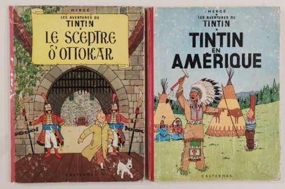 HERGE Editions CASTERMAN Lot de bandes dessinées Les Aventures de Tintin Les 7...
