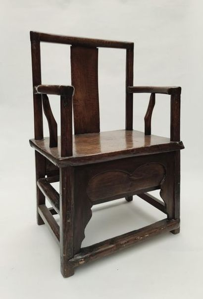 Stained wood FALKET, work of China end of...