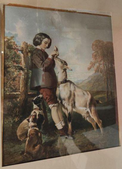 Ensemble de trois lithographies en couleurs d'après Lanfant de Metz et De Dreux