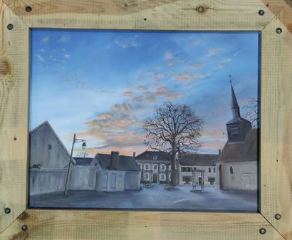 MARTIN Thierry Soirée Oil on canvas, signed lower left 50x65 cm