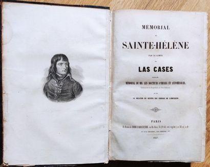LAS CASES Mémorial de Sainte Hélène 1 volume relié, dos à 5 nerfs, Paris 1847 (usures...