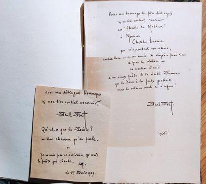 Paul FORT Chants du malheur et chansons du bonheur 1 volume relié, 1934, Jules Klein,...