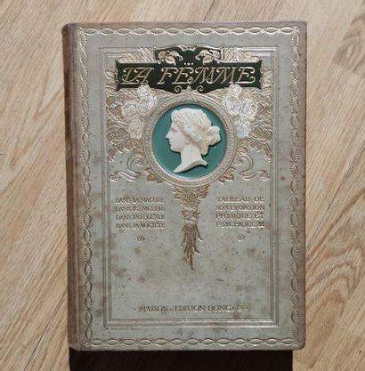 Frédéric LOLIEE La femme 4 volumes, bound, éditions Bong 29 X 22 cm (worn)