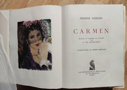 Prosper MERIMEE Carmen 1 volume, in sheets,...