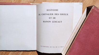 Abbé PREVOST HISTOIRE DU CHEVALIER DES GRIEUX ET DE MANON LESCAUT 1 volume, en feuilles,...