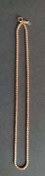 CHAINE en or jaune 750°/°° à maillons tressés  Poids : 8.3 gr Long. : 44 cm ...