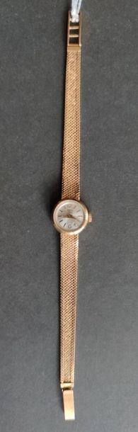 Ladies' BRACELET WATCH in yellow gold, mechanical movement Quotation (not guaranteed)...