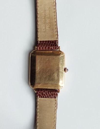 BAUME & MERCIER, men's wristwatch, 750°/00 yellow gold case, quartz movement (not...