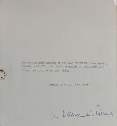 GEORGE VALMIER (1885-1937), Post-cubist composition in vase Gouache , 14 x 11.5...