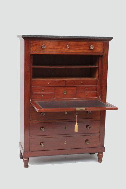 SECRETARY right mahogany veneer opening by...