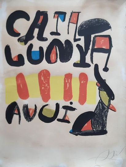 Joan MIRO (1893-1983) Caralunya Lithographie...