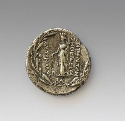 PHENICY TRIPOLI Tetradrachma Obverse: Busts of Dioscuri on the right side Reverse:...