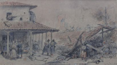 Auguste RAFFET (1804-1860) Skirmishes of...