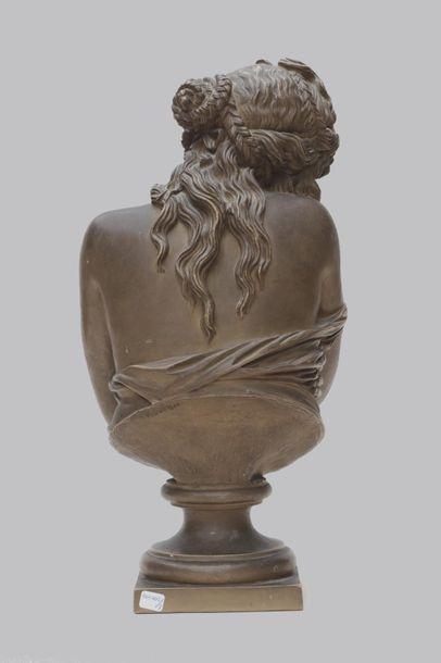 JEAN ANTOINE HOUDON (1741-1828), La pudeur, jeunne femme voilant sa nudité Multi-edition...