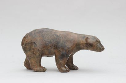 ECOLE FRANCAISE contemporaine Polar Bear...