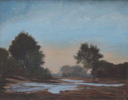 Auguste ALLONGÉ (1833-1898) Landscape of...