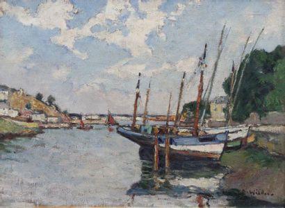 André WILDER (1871-1965) Le port de Douarnenez...