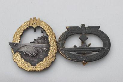 Deux INSIGNES Marine allemande Insigne kriegsmarine...