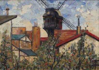 Elisée MACLET Le moulin de La Galette et...
