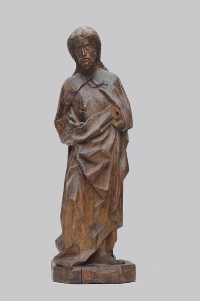 Saint en bois sculpté, travail XVIIIème siècle...