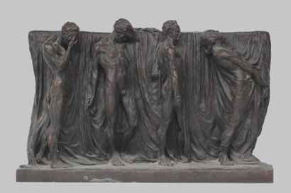 Alfredo PINA (1883-1966) Studies for the monument to Dante Alighieri area of high...