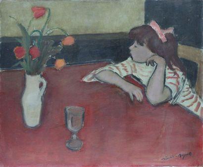 Simon SIMON-AUGUSTE (1909-1987) Jeune fille...