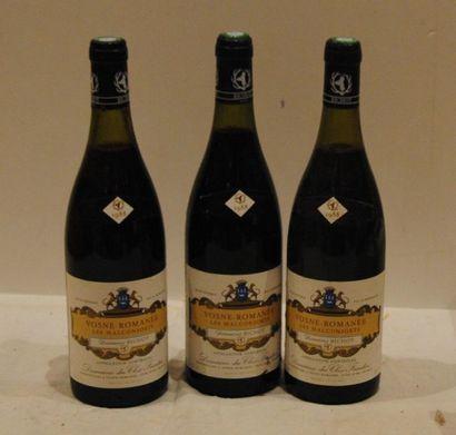 3 end VOSNE ROMANEE CLOS FRANTIN 1988