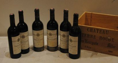 6 end CHT TERRE ROUGE CRU BOURGEOIS 1986...