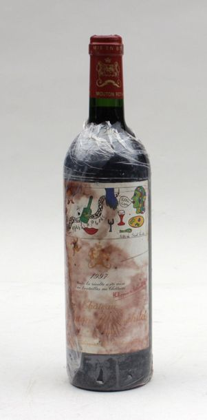 1 end CHT MOUTON ROTHSCHILD 1997 ( STAINED...