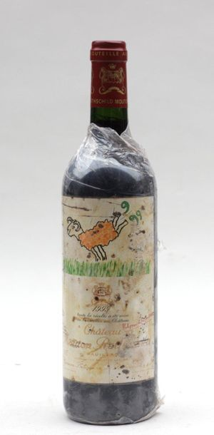 1 end ROTHSHCILD SHEEP SHEEP 1999 (STAINED...