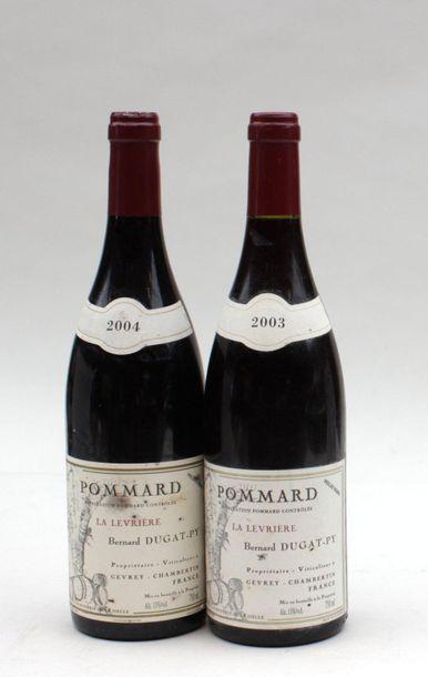 2 bout POMMARD LA LEVRIERE DUGAT PY 2003...