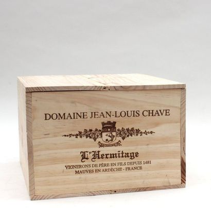 6 bout HERMITAGE JL CHAVE 2011 3 ROUGE, 3...