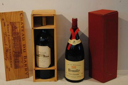 2 mag 1 BROUILLY CLOS REISSIER 1993, 1 CHT DU BARRY 2000