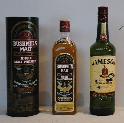 2 bout 1 WHISKY BUSHMILLS 10 ANS D'AGE, 1...