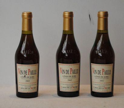 """3 bottles of """"CÔTE DU JURA"""" PAILLE WINE LES CAVES DE LA MUYRE 2002 (37.5cl)"""