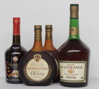 4 vials 1 MAG COGNAC G. DELAGRANGE, 1 BLLE...